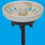 Indian Ivory Kitchen Sink Basket Strainer Waste Plug - 39000024